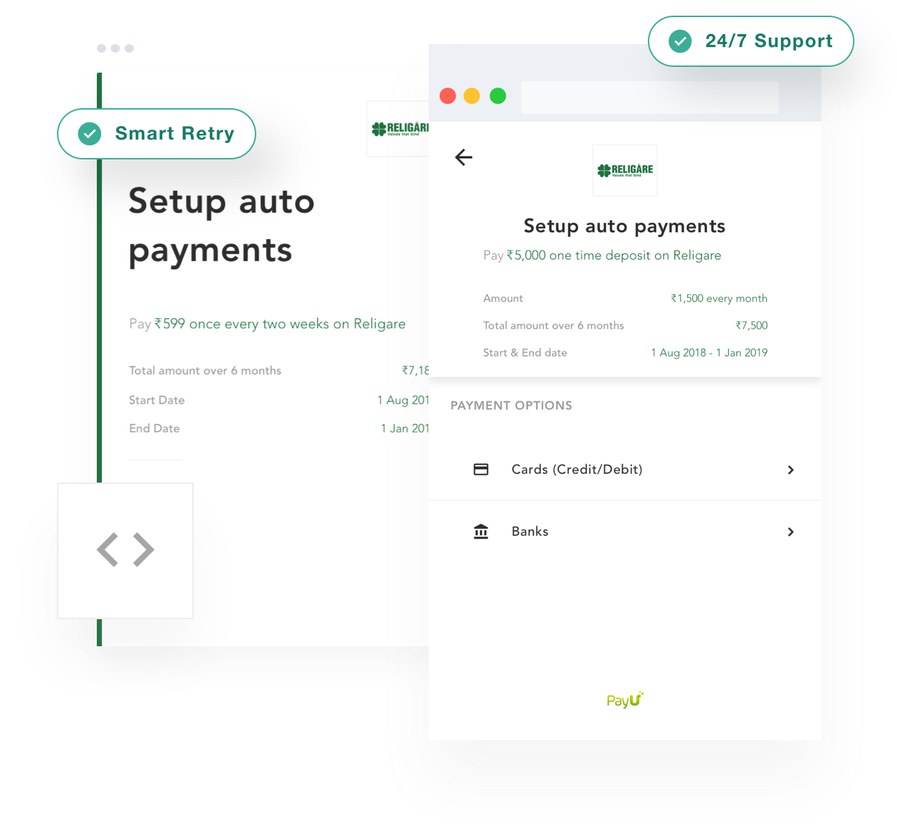 Setup automatic payments for recurring bills and subscriptions